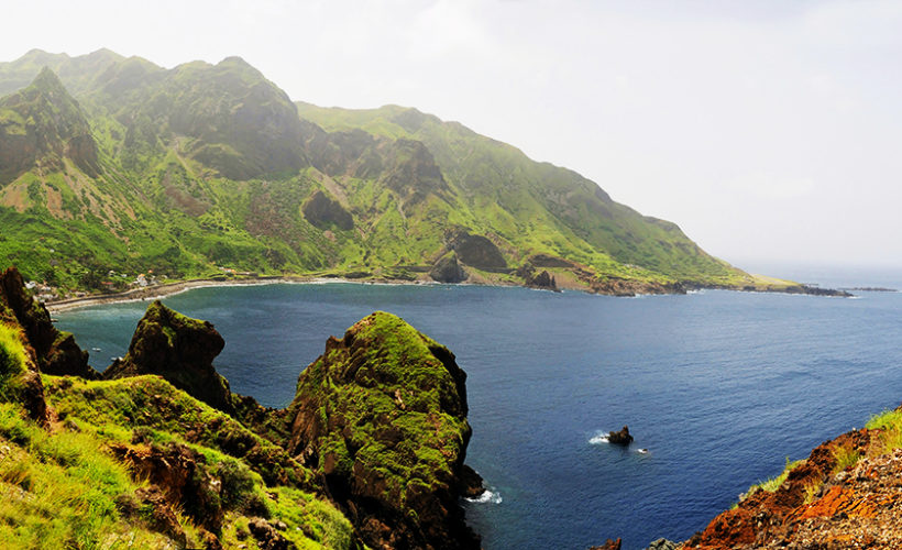 A beautiful bay found on the seacoast town of Faja D'Agua on the Island of Brava, Cape Verde